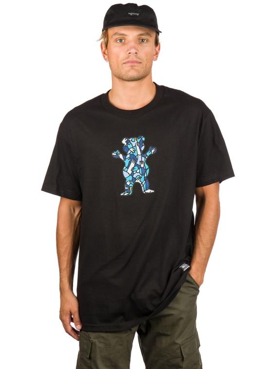 Grizzly Lucas Beaufort Crown Bear T-Shirt zwart