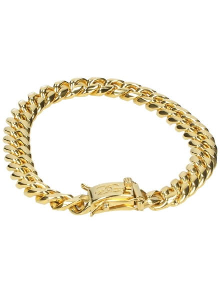 The Gold Gods Miami Cuban 8mm Link Bracelet geel