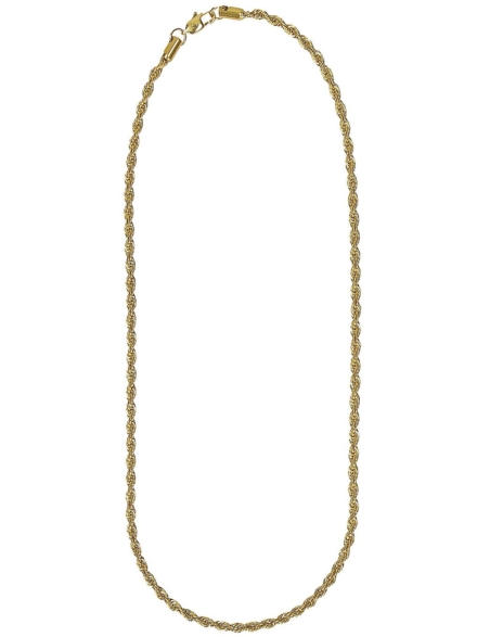 """The Gold Gods Rope 22"""" 4mm Chain geel"""