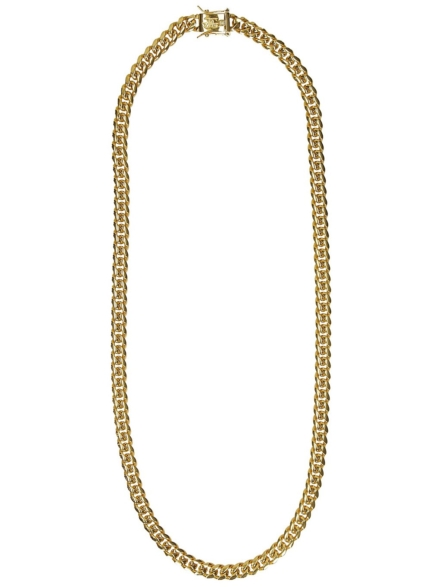 "The Gold Gods Miami Cuban 8mm 24"" Link Chain geel"