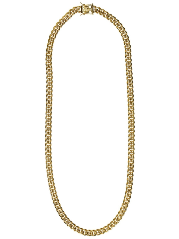 The Gold Gods Miami Cuban 8mm 24″ Link Chain geel