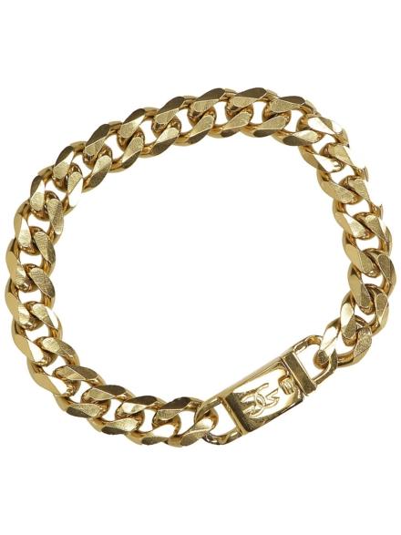 The Gold Gods Flat Edge Cuban Link Bracelet geel