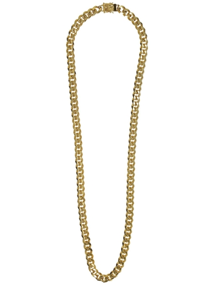 "The Gold Gods Flat Cuban 30"" 10mm Link Chain geel"