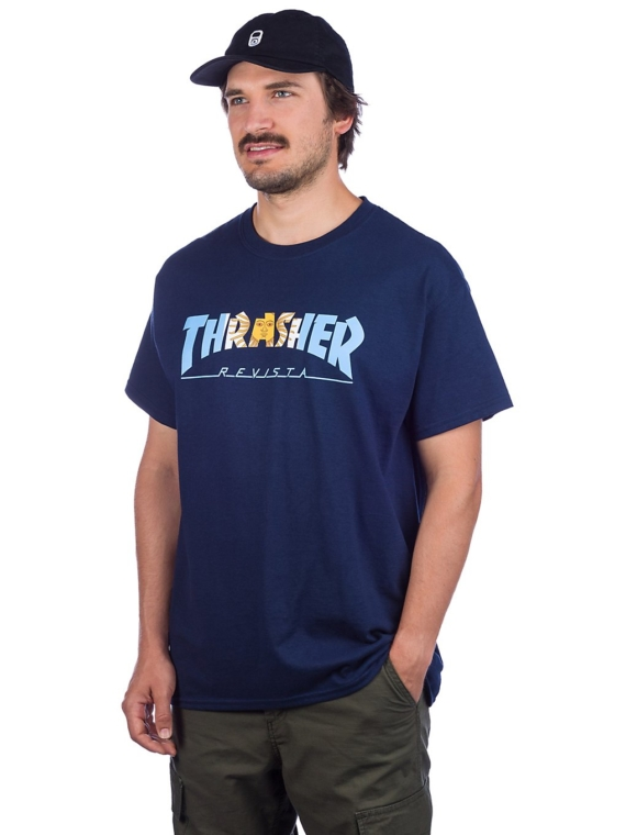 Thrasher Argentina T-Shirt blauw
