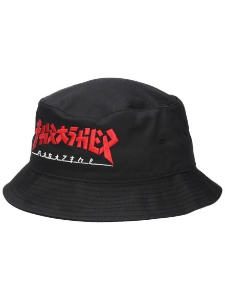 Thrasher Godzilla Bucket hoed zwart