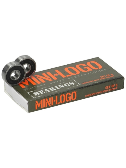 Mini Logo 608ZRS Series 3 Bearings zwart