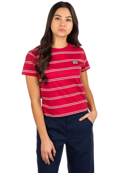 Vans Spacey Stripe T-Shirt rood