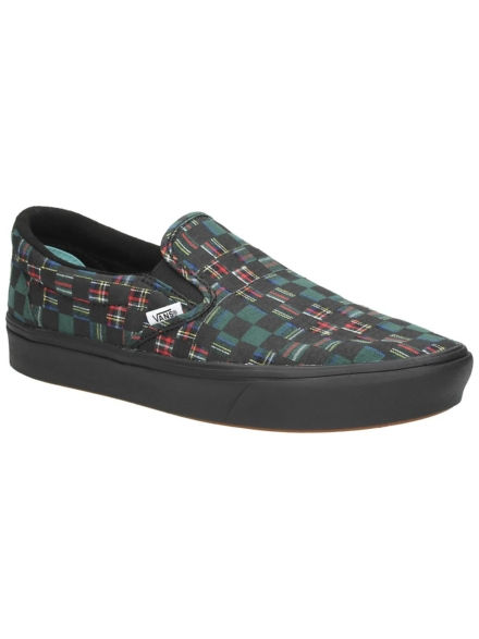 Vans Plaid Check UA ComfyCush Slip-Ons groen
