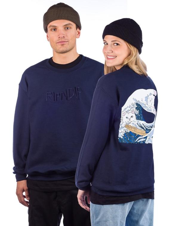 RIPNDIP Great Wave Hoodie blauw