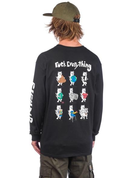RIPNDIP Fuck Everything Long Sleeve T-Shirt zwart