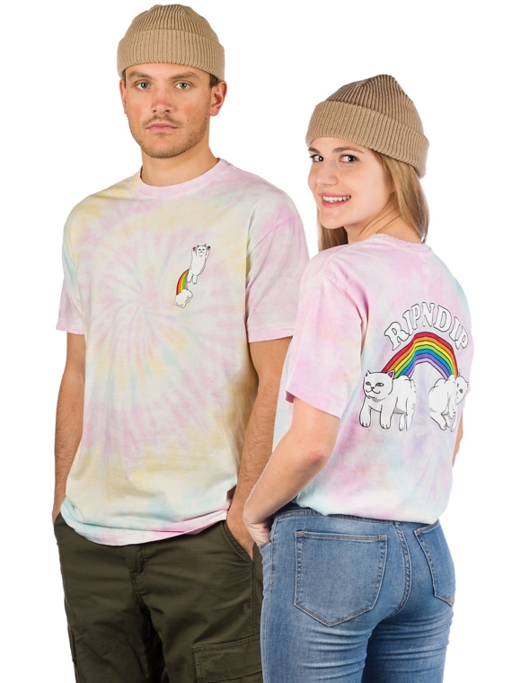 RIPNDIP Double Nerm Rainbow T-Shirt patroon