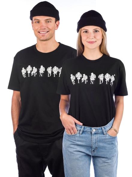 RIPNDIP Statues T-Shirt zwart