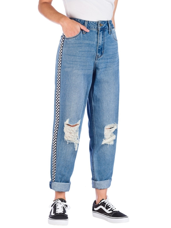 Empyre Eileen W/Sgl Side Stripe Jeans blauw