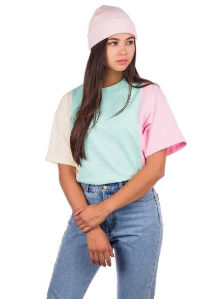 Teddy Fresh Pastel Colorblock Emb T-Shirt patroon