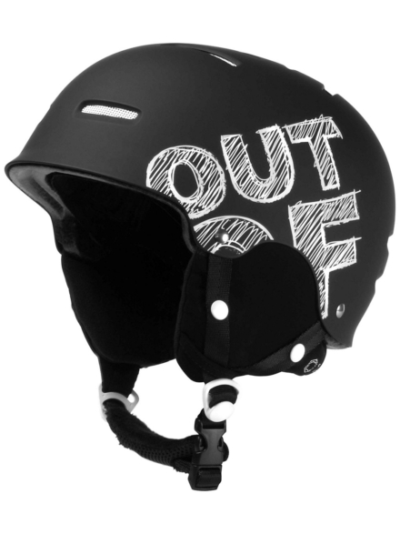 Out Of Wipeout zwart Board Skihelm zwart
