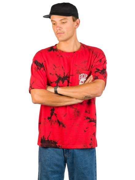 Lurking Class Red & Blk Dye HD T-Shirt rood