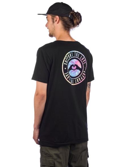 Love Stamped Logo Tie Dy T-Shirt zwart