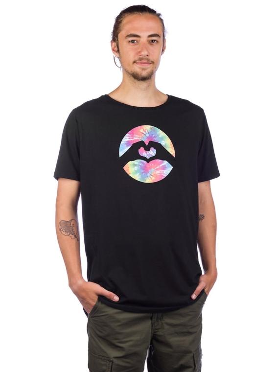 Love Tie Dye T-Shirt zwart