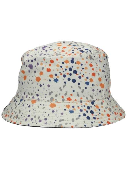 Empyre Splatter Tie Dye Bucket hoed wit