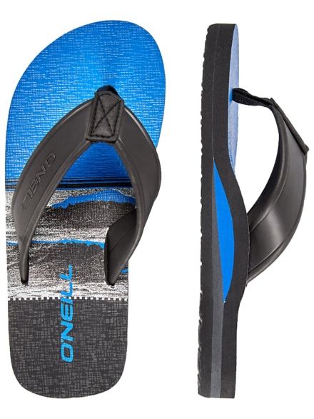 O'Neill Arch Print slippers zwart