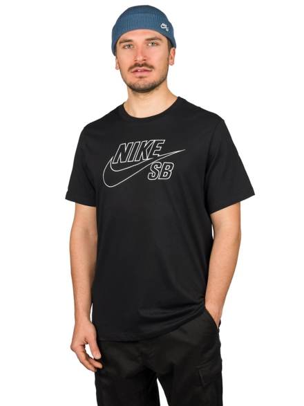 Nike SB Logo Embroidery T-Shirt zwart