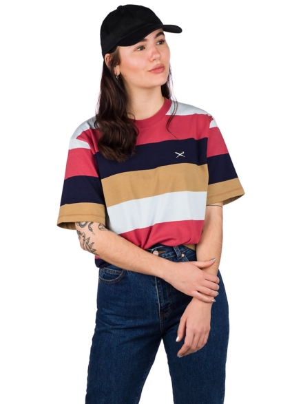Iriedaily Fat Stripe T-Shirt blauw