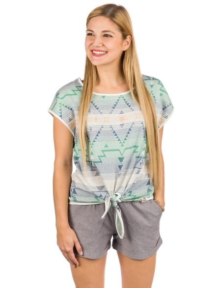 Iriedaily Navania Jacquard T-Shirt wit