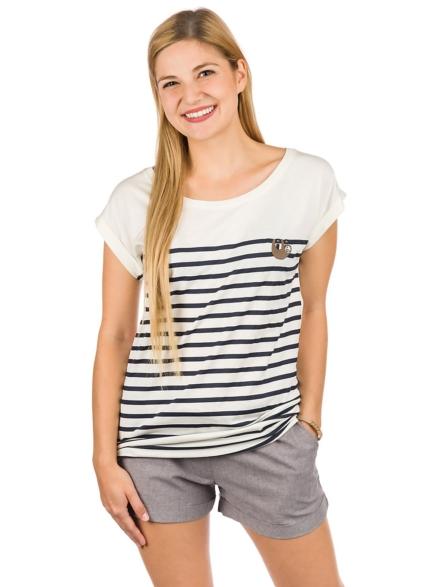 Iriedaily Slothy Stripe T-Shirt wit