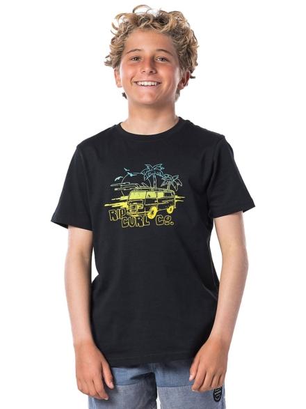 Rip Curl Coche T-Shirt zwart