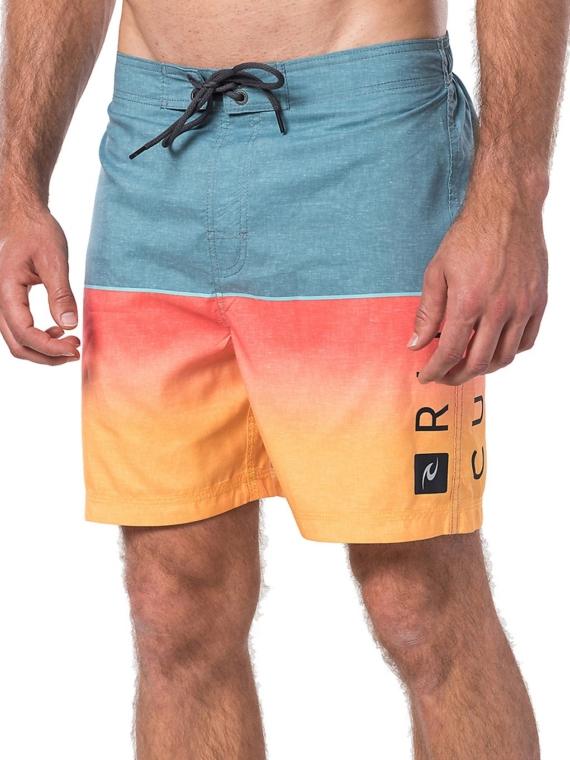 "Rip Curl Semi-Elasticated Nu Divide 18"" Boardshorts patroon"