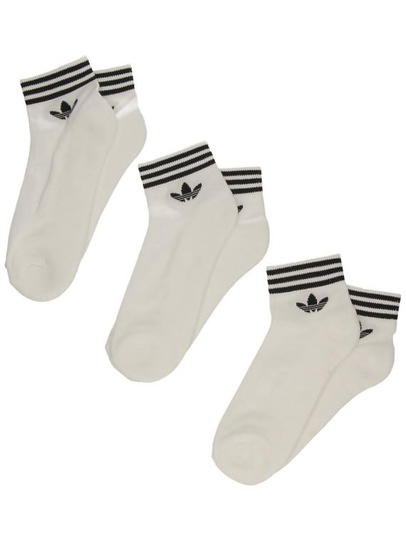 adidas Originals Trefoil Ankle skisokken wit