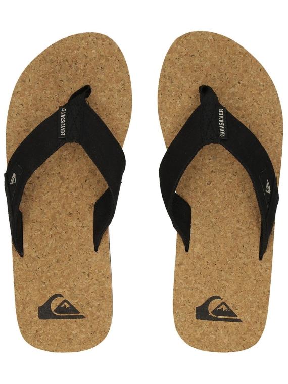 Quiksilver Molokai Abyss Cork slippers zwart
