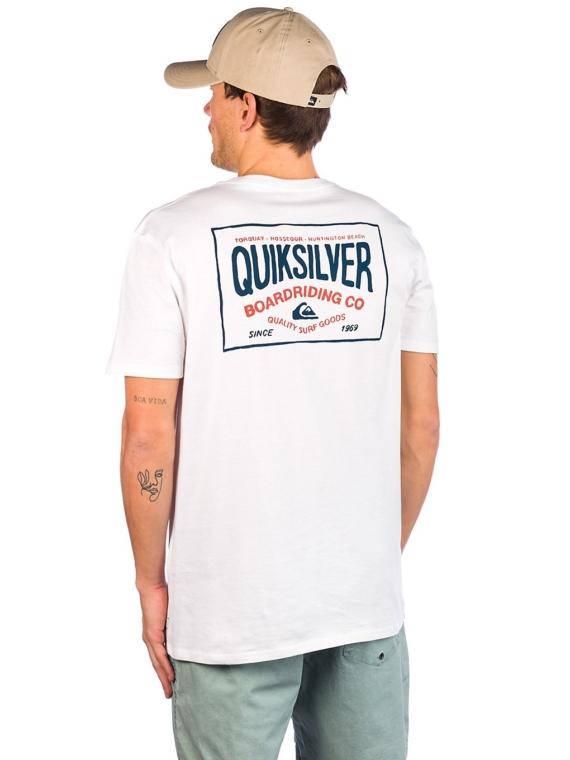 Quiksilver Cloud Corner T-Shirt wit