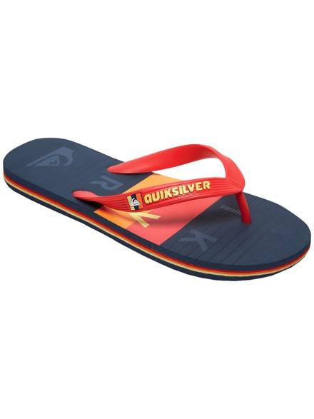 Quiksilver Molokai Word Block slippers zwart