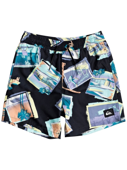 Quiksilver Vacancy Volley 14 Boardshorts zwart