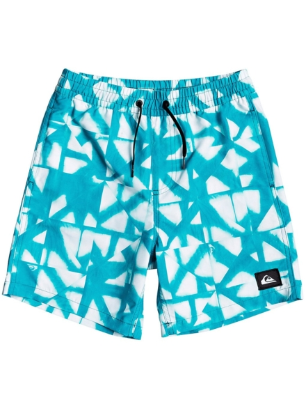 Quiksilver Dye Check Volley 15 Boardshorts blauw