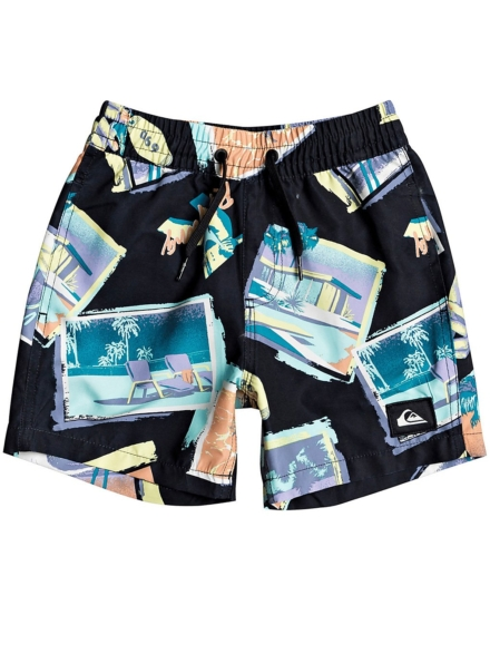Quiksilver Vacancy Volley 12 Boardshorts zwart