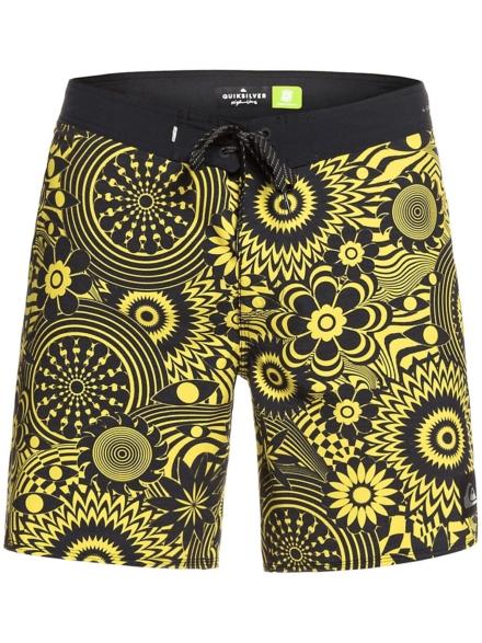 Quiksilver Highline Expanded Mind 17 Boardshorts geel