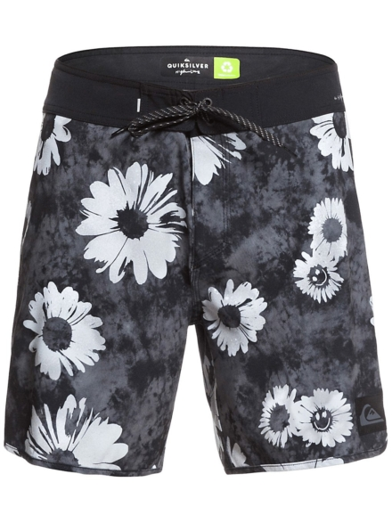 Quiksilver Highline Sprayed Daisy 17 Boardshorts zwart