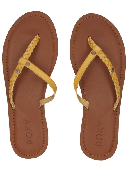 Roxy Livia slippers geel