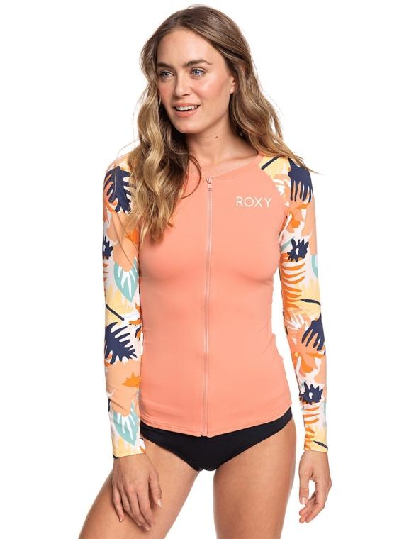 Roxy Swim The Sea Zip Longsleeve Lycra oranje
