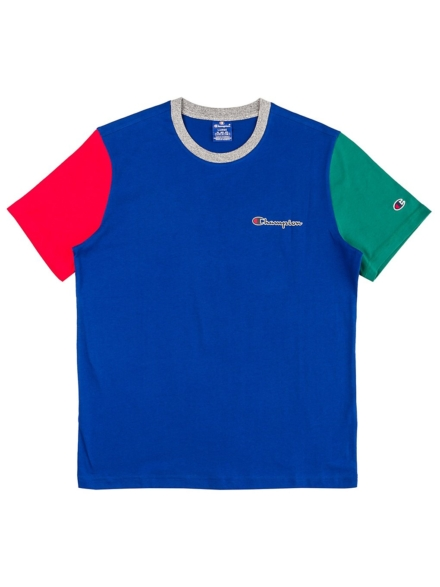 Champion Team Stripes T-Shirt blauw