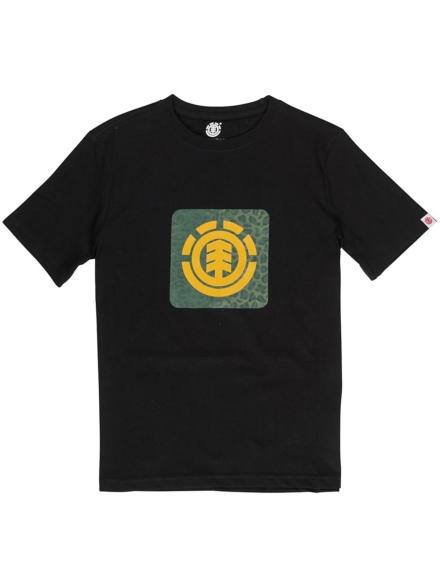 Element Leopard T-Shirt zwart