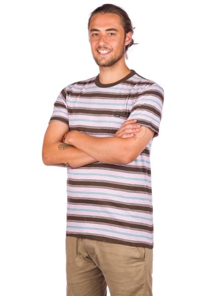 RVCA Davis Stripe T-Shirt paars