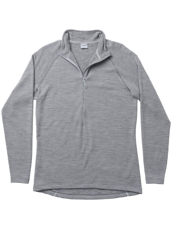 Houdini Wooler Halfzip Tech t-shirt met lange mouwen grijs