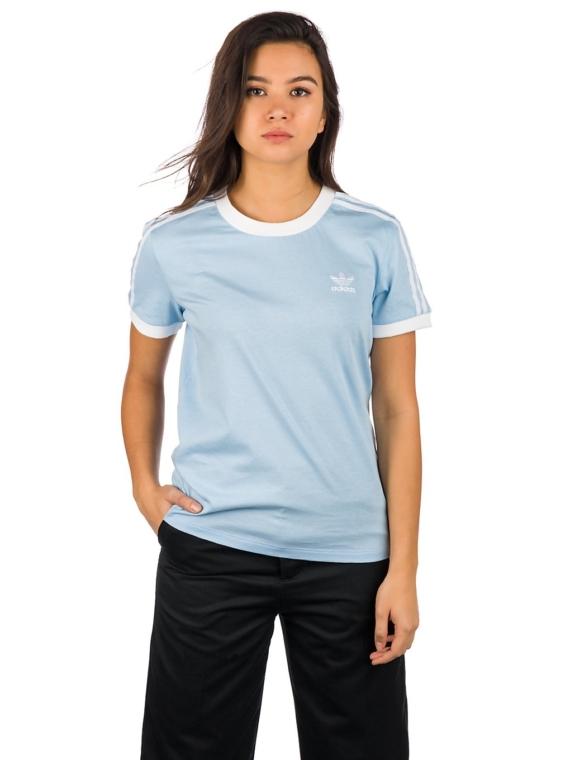 adidas Originals 3 Stripes T-Shirt blauw