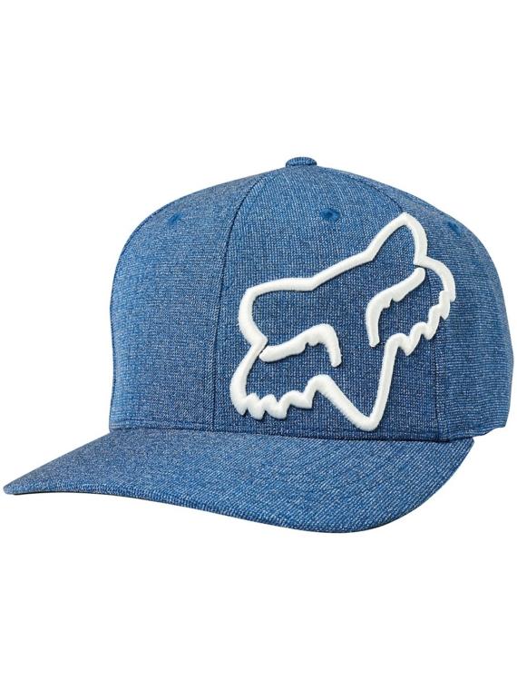 Fox Clouded Flexfit petje blauw