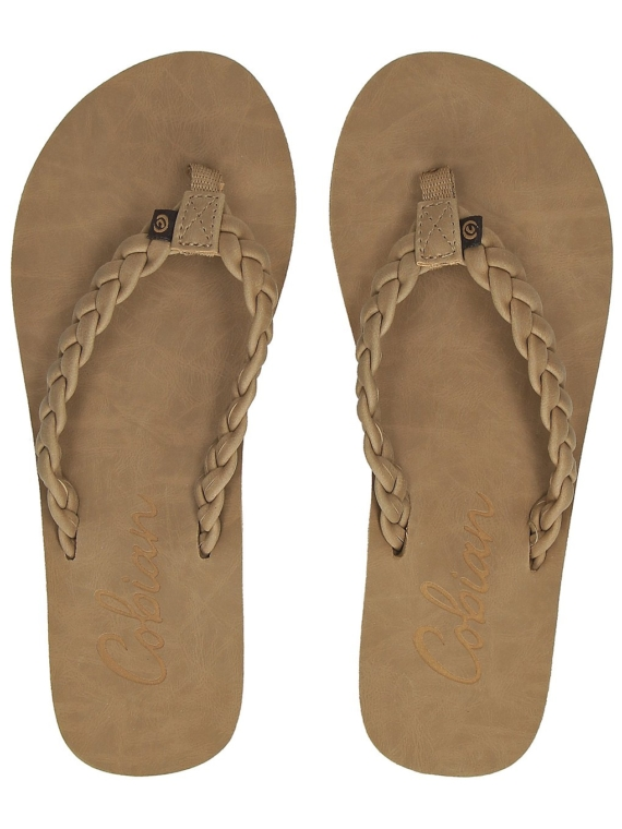 Cobian Braided Pacifica slippers bruin