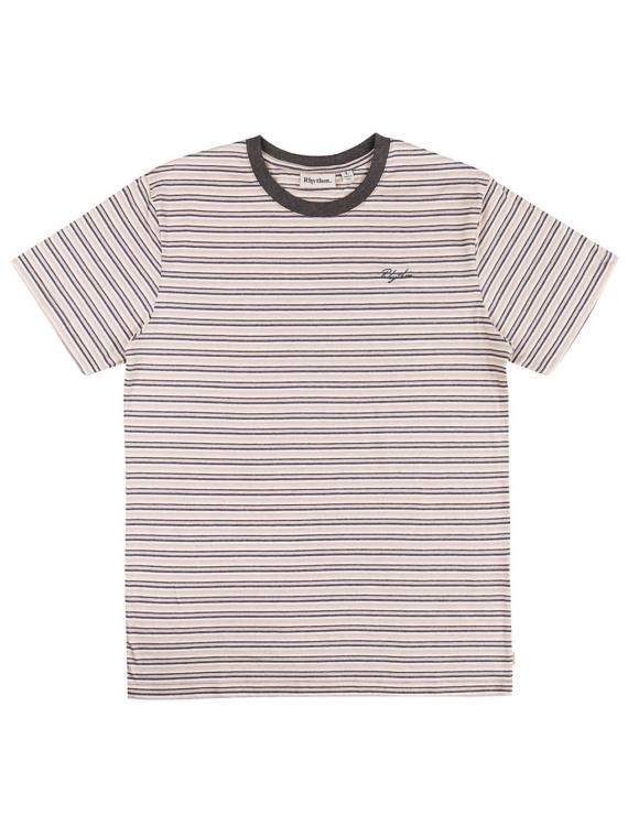 Rhythm Everyday Stripe T-Shirt blauw