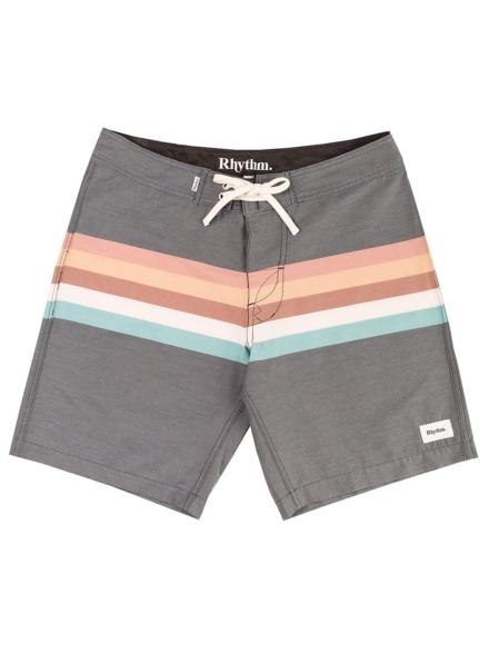 Rhythm Retro Stripe Boardshorts zwart